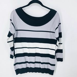Maurices lightweight gray, black and white sweater